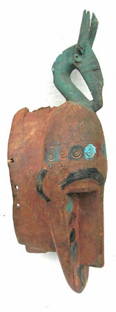 African mask from Bambara