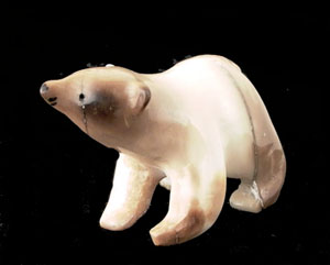 Eskimo bear carving