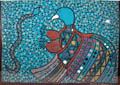 Bird and Snake Tiwi guache art print by Tipungwuti ></a><br>