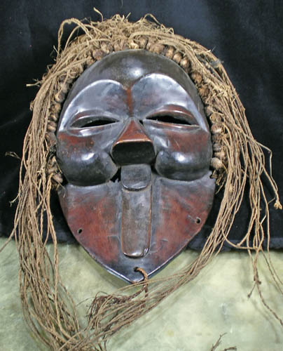 Kuba African tribal art mask